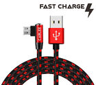 L Shape Braided 6ft -10ft Micro USB FAST Charger Sync Cable for LG Cell phone