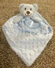 Little Beginnings Baby Dots Minky Sherpa Security Blanket Bear Blue Pink White