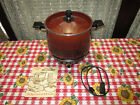 1970s West Bend Lazy Day Slo Cooker # 5225 6qt. Cord Manual Looks Works Well !