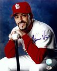 Fernando Vina Signed Autographed 8X10 Photo St. Louis Carinals Pose w/Bat w/COA