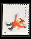 US 4944 Winter Fun Snow Angel forever single from ATM booklet 18 MNH 2014