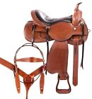 Used Saddle 15 16 17 18 Western Classic Cowboy Trail Riding Ranch Horse Tack