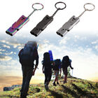 Pocket Whistle Double Tubes High Decibel Camping Hiking Survival Tool + Keyhain