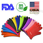 Внешний вид - Silicone BBQ Heat Resistant Gloves Oven Grill Pot Holder Kitchen Cooking Mitts