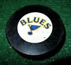 Vintage 1980's Inglasco Corp Canada Game Used St. Louis Blues HOCKEY PUCK