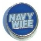 Navy Wife Floating Charm for Glass Living Memory Locket--Military