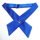 US Girl Kid Adult Uniform Neck Tie Adjustable Cross Knot Collar Bowtie 8 Colors
