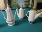 """COFFEE POT CERAMIC """"CASUAL"""" """"INDENPENDENCE IRONSTONE"""" WHITE IRONSTONE PICK ONE"""