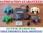 N64 NINTENDO 64 CONSOLE + CONTROLLER(S) + SUPER MARIO BUNDLE! CLEANED AND TESTED