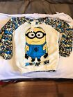 NEW Child's  DESPCIABLE ME MINIONS 2 PIECE FLEECE PAJAMA SET SZ XL SLEEPWEAR