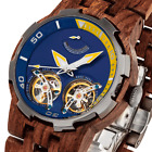 2019 NEW Dual Wheel Automatic Kosso Wood Watch for Men