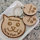 PERSONALISED MOTHERS DAY GIFTS FOR HER GIFT BIRTHDAY MUMMY MUM NAN CAT KEYRING