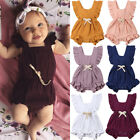 Newborn Baby Girls Ruffle One-Pieces Romper Bodysuit Jumpsuit Outfits Sunsuit