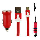 Trio Pack (Micro USB, Car Charger, Mini Stylus) for Wiko Sunny 3 Mini