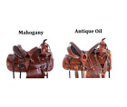 Used Western Saddles 16 17 18 15 14 Chestnut Mahogany Medium Antique Horse Tack