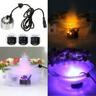 Zinc Alloy Mist Maker Rockery Decor Fountain Pond LED Lighting Atomizer