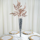"""2 pcs 28"""" tall Glittered Leaves Stems Sprays Wedding Party Decorations Banquet"""