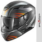 Shark D-SKWAL Mercurium Matt Orange Silver Motorcycle Helmet Motorbike Street
