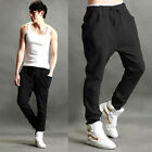 Mens Unisex Casual Harem Baggy Hip Hop Dance Jogger Sweat Pants Slacks Trousers