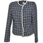 Twin set tailleur donna gonna e blazer corto in lanetta ad intessitura laga fant