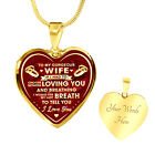 To My Wife Valentine's Day Ideas Wedding Heart Necklace - Husband and Wife Gifts