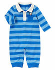 NWT Gymboree Happy Panda Rugby Striped Romper 1PC Baby Boy
