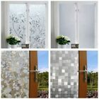 Home Decor Waterproof Floral Glass Frosted Bathroom Kitchen Window Sticker Decal