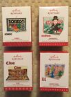 Hallmark Ornament Family Game Night Lot of 4 Sorry Monpoly Clue Candy Land NRFB