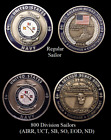 ~ USS Burke ~ Ship 4 ~ US Navy Recruit Training Command Challenge Coin ~