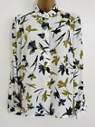 NEW EASTEX RRP£59.00 10-20 Green White Leaf Floral Print Blouse Shirt Top Chiffo