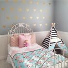 Wall Stickers Decal Love Heart Shape Flower For Girl's Kids Home Diy Decor