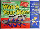 WATCH YOUR STERN 1960 QUAD POSTER KENNETH CONNER SIDNEY JAMES JOAN SIMS CARRY ON
