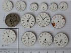 14-LOT Swiss Made & antique fakes Pocket Watch Movements for parts repairs AS IS