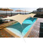 Heavy Duty Seamless Waterproof Sun Shade Sail in Beige or Sand by Alion Home©
