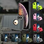 Armor Metal Brushed Defender Tough Case Cover For iPhone 6/7/8/X/XR/XS/MAX PLUS