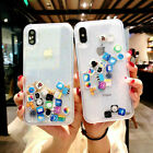 App Icon Dynamic Clear Case Liquid Glitter Quicksand Cover For iPhone X Max 7 8