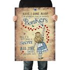 Alice in Wonderland Poster A2, A1, A0 - Quality Satin Paper - Alice Bonkers