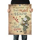 Alice in Wonderland Poster A2, A1, A0 - Quality Satin Paper - Mad Hatter MHP01