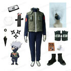 Naruto Hatake Kakashi Cosplay Costume waistcoat Outfits and Headband