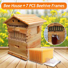 7pcs/4pcs Auto Honey Hive Beehive Frames or Beekeeping Super Brood Box House USA