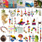 Pets Bird Toy Parrot Hanging Swing Rope Cage Toys Parakeet Cockatiel Budgie Lot