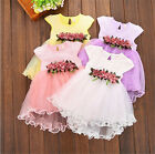 Kids Baby Flower Girls Floral Tulle Tutu Dress Party Wedding Bridesmaid Dresses