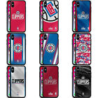 OFFICIAL NBA LOS ANGELES CLIPPERS BLACK HYBRID GLASS BACK CASE FOR iPHONE PHONES on eBay