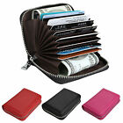 Anti-theft RFID Blocking Leather ID Credit Card Cash Wallet Zipper Purse Pocket