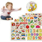 Baby Toys Children Wooden Cognition Board Montessori Educational Puzzle Toy HA