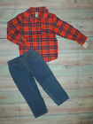 NWT Carters Toddler Boys Plaid Button Down Shirt & Pants Outit Set 2T 3T 4T 5T