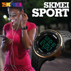 SKMEI Women Outdoor Sports Watches Countdown Double Time Digital Wristwatch 1219 image