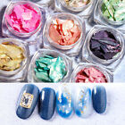 2G Nail Art Seashell Paillette Sequins Flakes Ultra-thin Irregular  Tips