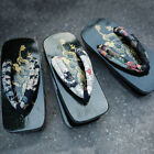 Mens Japanese Dragon Geta Clog Kimono Flip Flops Sandal Wood Summer Slipper New