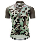Mens Bike Team Road Camo Jersey Cycling Short Sleeve Tops Shirt Clothing Outfits
